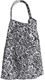 3-in-1 CuddleBug Nursing Cover - Breastfeeding Cover - Car Seat Cover - Changing Blanket - Extra Wide for Discreet Nursing - Durable Canvas Apron Poncho Design (Floral Black)