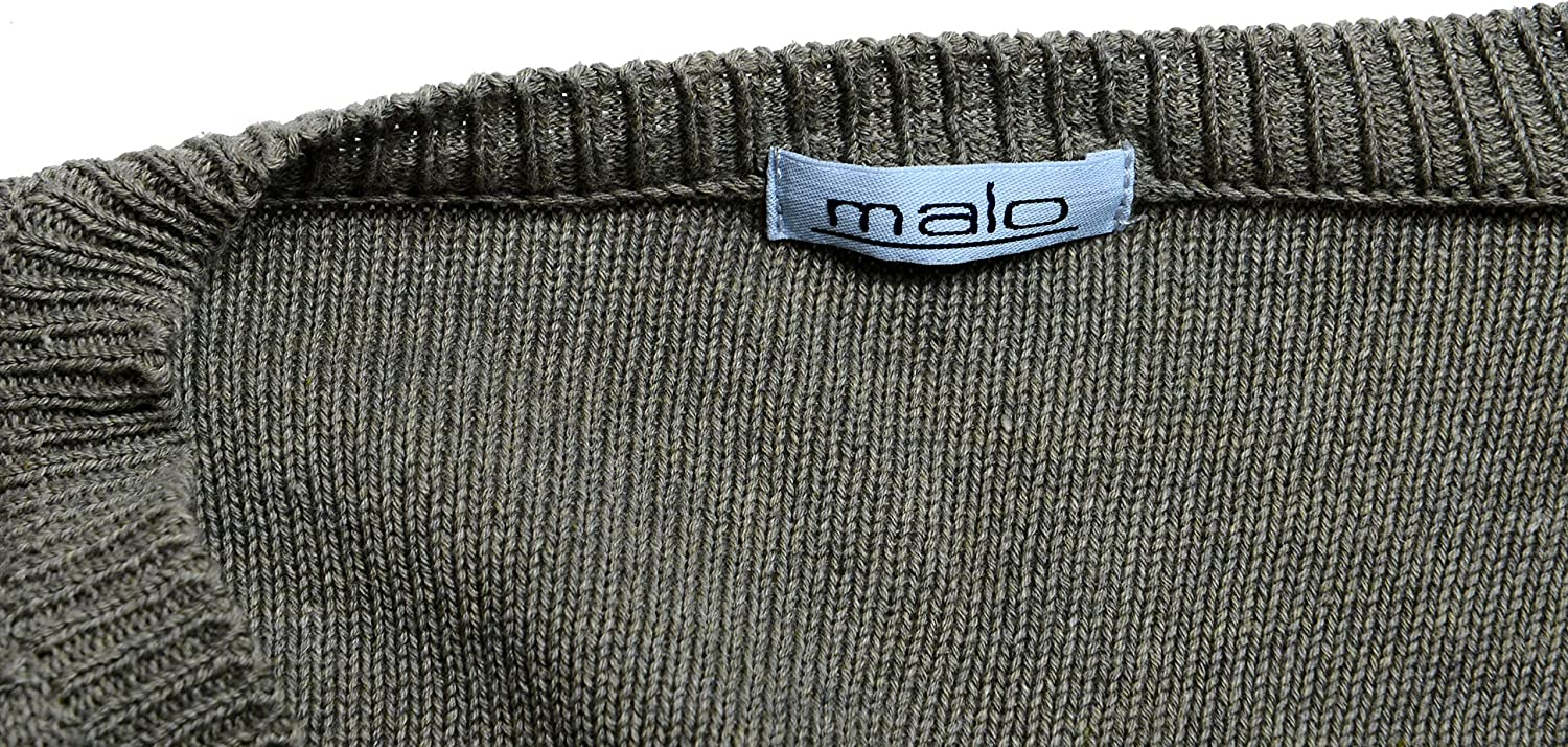 MALO Men's Olive Green V Neck Pullover Sweater US 2XL IT 56