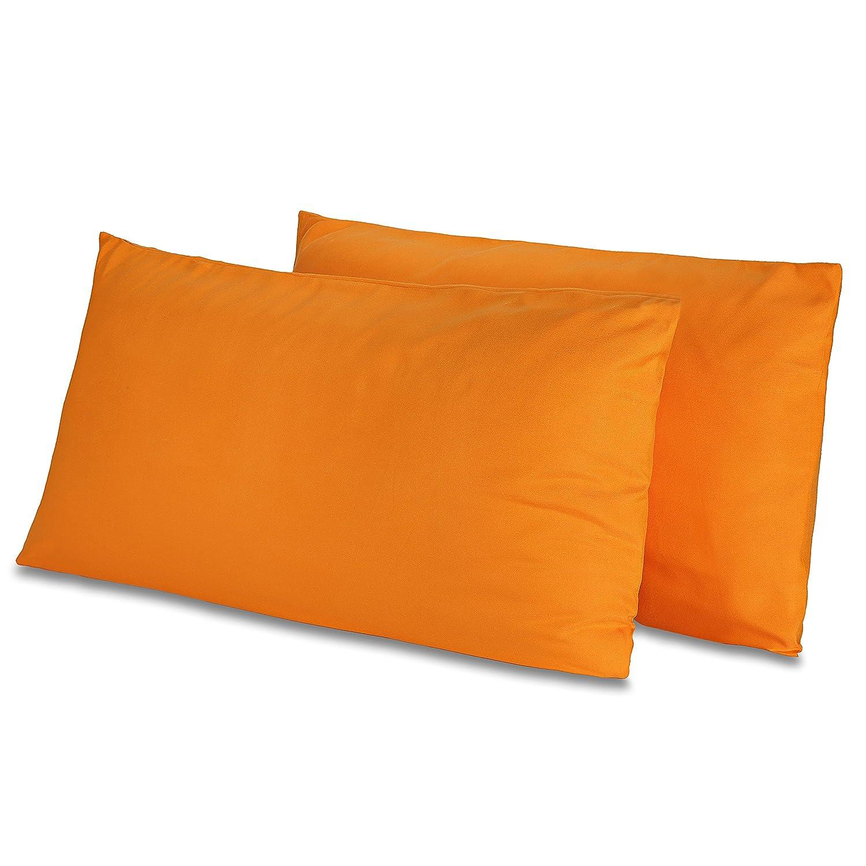 95 g//m/² 2-er Set Kissenh/ülle Mikrofaser 40 x 40 cm, Pink /ÖKO-TEX Standard Kissen-Bezug mit Rei/ß/ver/schluss Doppelpack Kissenbez/üge ca