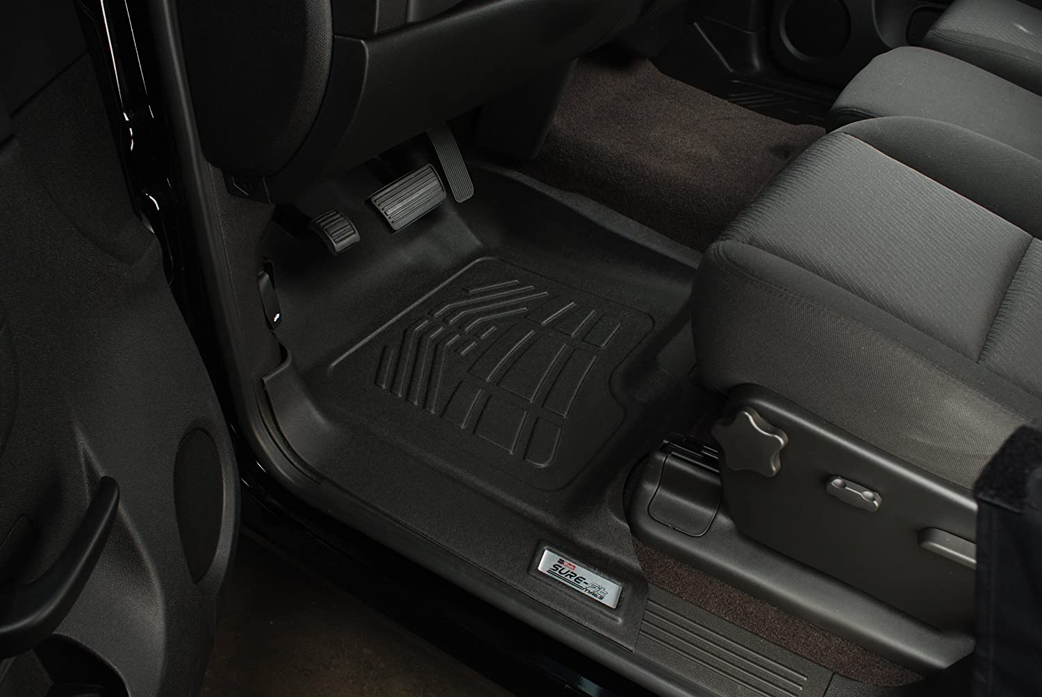 Westin Wade 72-110032 Black Sure-Fit Front Right And Left Molded Floor Mat Set 1 Pair