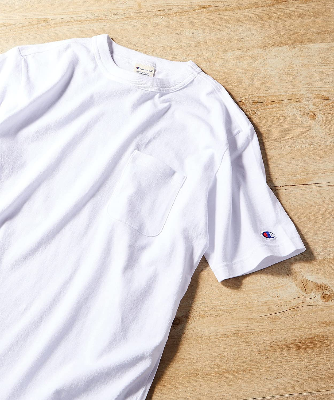 Champion:ポケット付クルーネックTシャツ 画像2