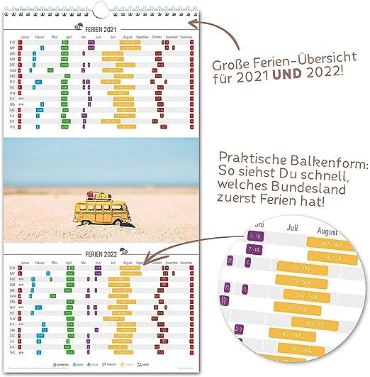 5 Spalten FLORAL Pollen- Obst- /& Gem/üse- Wandkalender: 23x43cm Ferien 2021//22 Vorschau bis M/ärz 2022 Jahreskalender Familienkalender Extras: 228 Sticker Familienplaner 2021