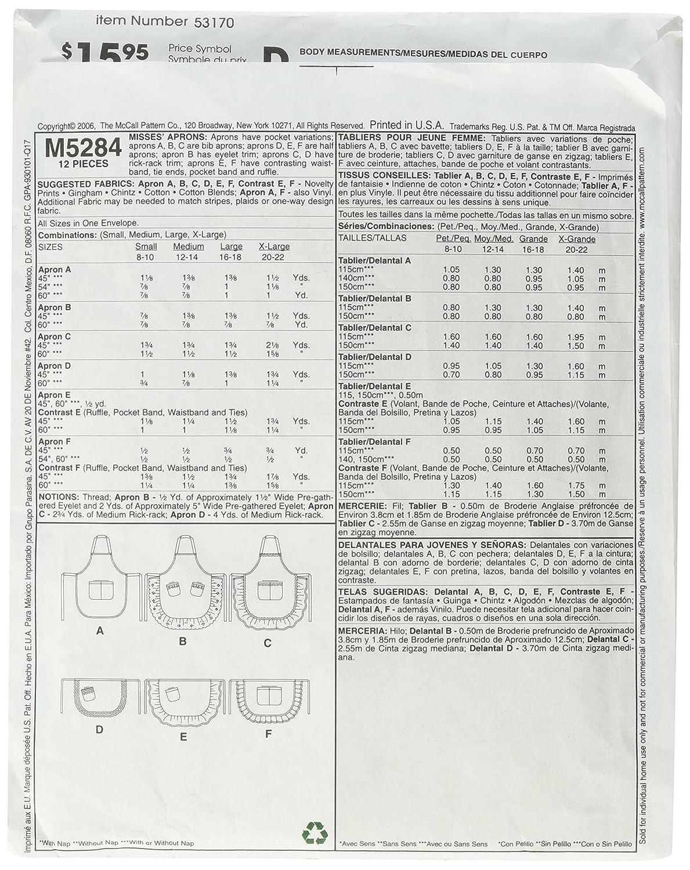 McCalls Patterns M5284 Aprons