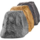 """OSD 5.25"""" White Granite Outdoor Rock Speaker 100W Weather Resistant Passive Stereo Pair RX550"""