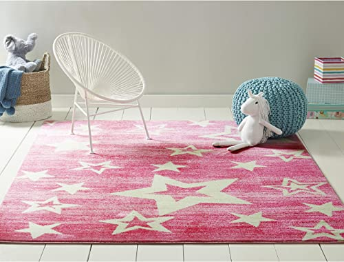 Home Dynamix Star Gaze Kid s Area Rug 1 1 x2 11 , Rectangle, Pink
