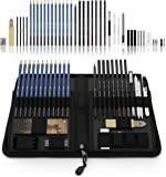 Castle Art Supplies 40 Piece Sketching Pencils and Drawing Set neatly presented in Sturdy Zipper Case with pop-up feature. Quality range of sketch pencils and more.!