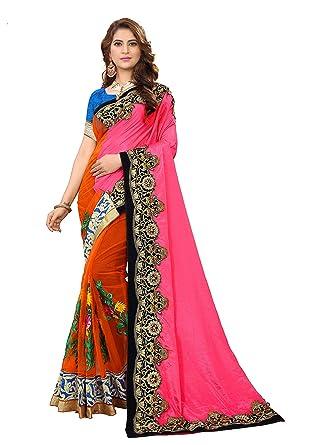 7250735413 Amazon.com: Namastey Fashion Indian Ethnic Bollywood Saree Party Wear  Pakistani Designer Sari Wedding Latest Saree for Womens: Clothing