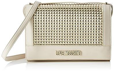 Love Moschino Calf Pu, Borsa a tracolla Donna, (Oro), 6x19x28 cm (W x H x L)