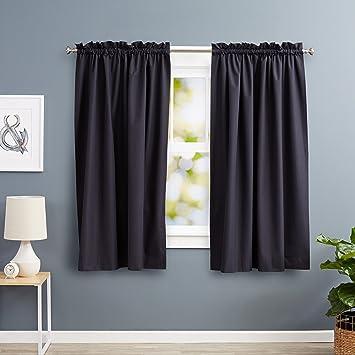 Blackout Curtains blackout curtains 63 : Amazon.com: AmazonBasics Room Darkening Thermal Insulating ...