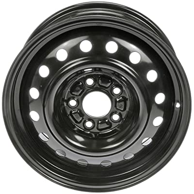 Dorman 939-197 Black Wheel with Painted Finish (16 x 6.5 inches /5 x 114 mm, 52 mm Offset): Automotive