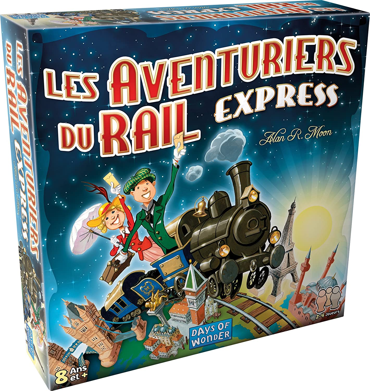 Asmodee-Les Aventuriers Du Rail Express, Multicolor, Norme (AVE22 ...