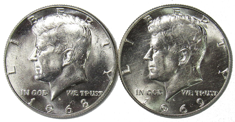 1968-D 40/% SILVER UNCIRCULATER KENNEDY HALF DOLLAR IN MINT CELLO