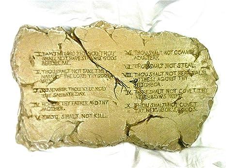 Molde de piedra arenisca religioso los Diez Mandamientos de ...