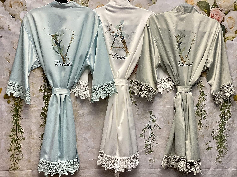 MINT Satin Floral Robe; Bride; Bridal; Bridesmaid; Celebration; Special Occasion; Gift