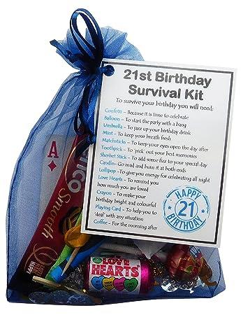 SMILE GIFTS UK 21st Birthday Survival Kit Gift