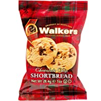 Walkers Shortbread Chocolate Chip Shortbread Cookies Snack Packs, 150 Count