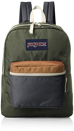JanSport Exposed Backpack (Muted Green/Soft Tan)