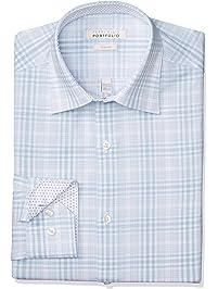 Perry Ellis Mens Standard Slim Fit Wrinkle Free Dress Shirt