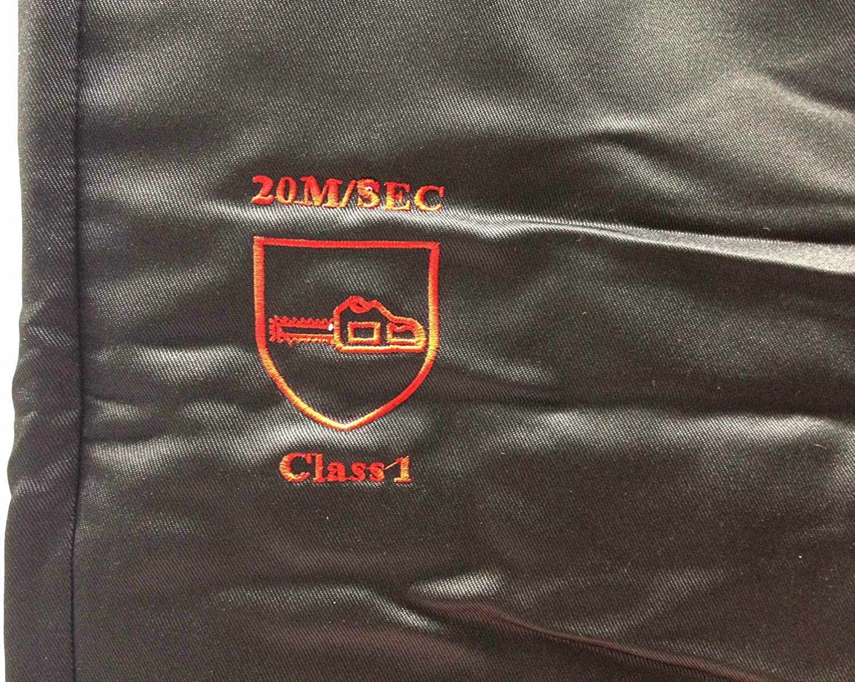 Tron/çonneuse kit de s/écurit/é/ DE Grande Gants et casque avec sangle de menton /Type A Pantalon//Chaps