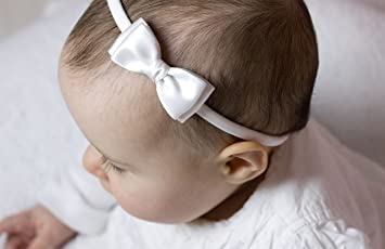Olivia Baby Bow Headband - Girls Headband - Olivia Satin Bow Handmade  Headband - Baby to 2684a8b200d