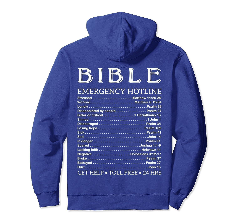 Bible Hotline Numbers Emergency Scripture Hoodie-TH
