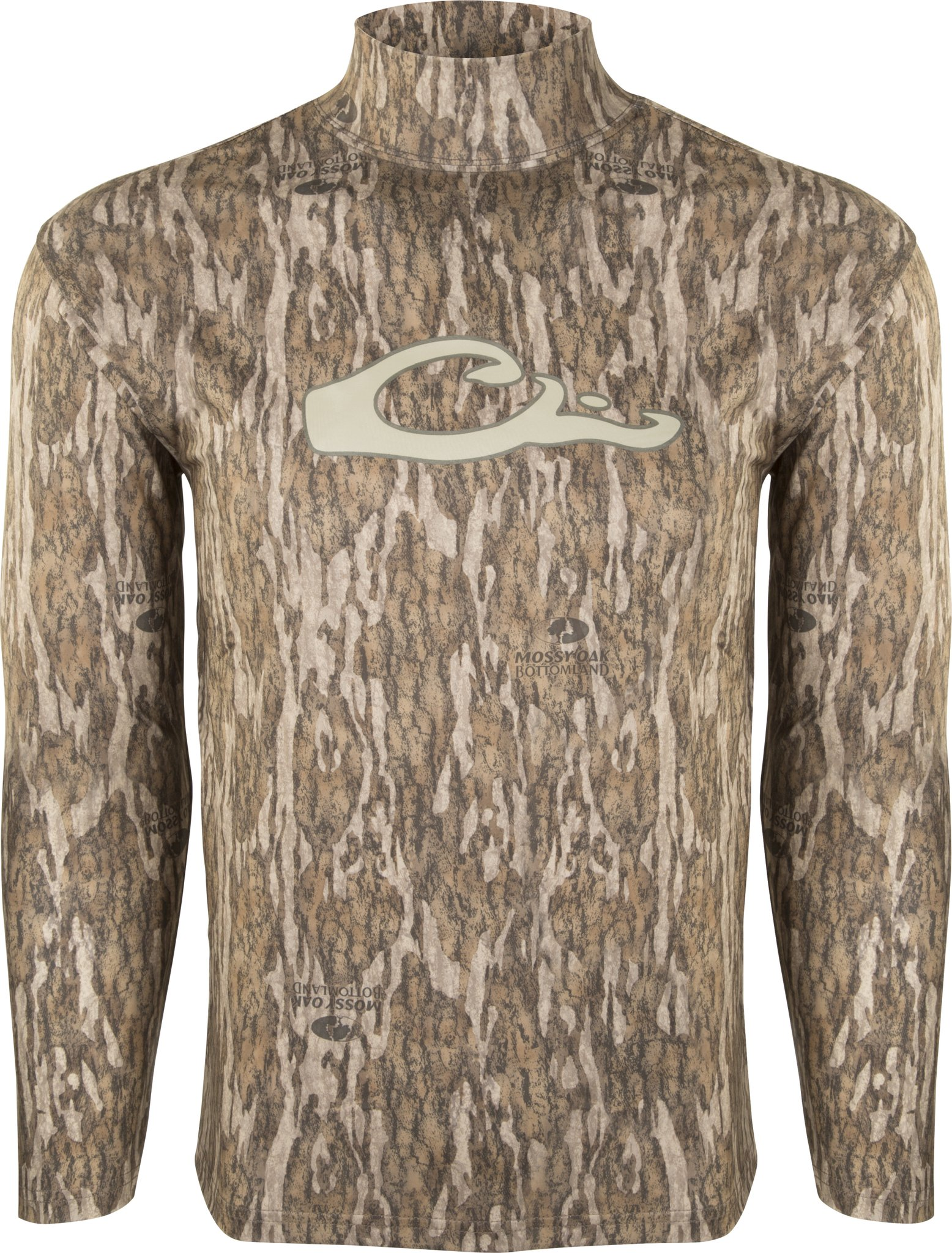 Drake Waterfowl Men's EST Performance Long Sleeve Top (Large, Mossy Oak Bottomland) by Drake