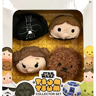 Disney TSUM TSUM Star Wars Plush Collector Set (4 pack) _Darth Vader, Han Solo, Princess Leia & Chewbacca: Toys & Games