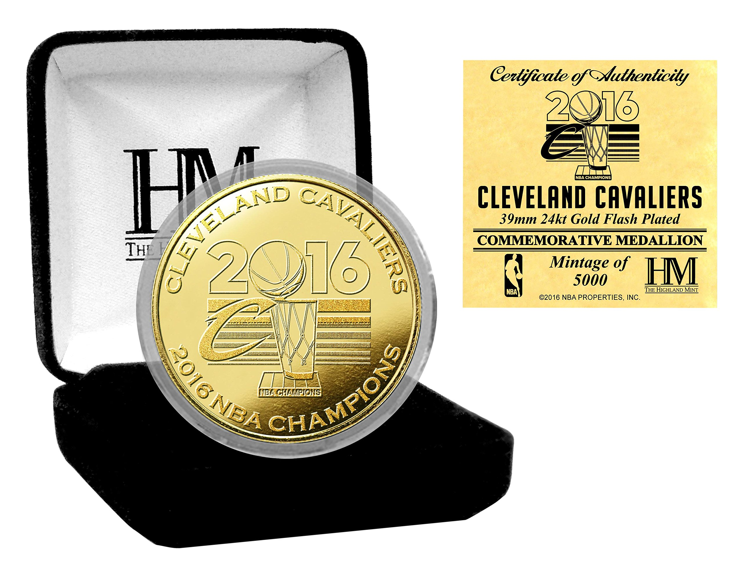 NBA Cleveland Cavaliers 2016 NBA Finals Champions Gold Mint Coin, 8'' x 4'' x 1''