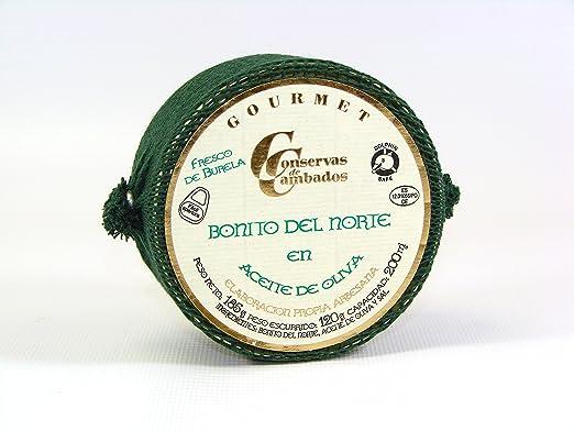 Tuna (white fin tuna) chunks in olive oil Bonito del Norte ...