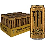 Monster Energy Java Monster Mean Bean, Coffee + Energy Drink, 15 Ounce (Pack of 12), 15 Fl Oz (Pack of 12)