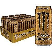Monster Energy Java Monster Mean Bean, Coffee + Energy Drink, 15 Ounce (Pack of 12)