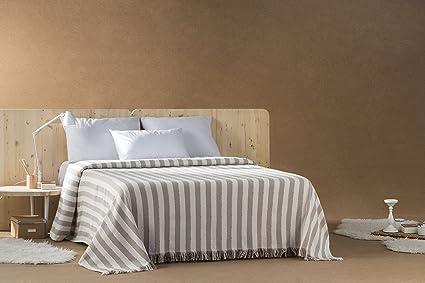 DECORACION NUEVO ESTILO- Plaid-Foulard Multiusos Toscana para Camas o sofás, tamaño 230 x 260, Color 08 Beig (Varias Medidas y Colores)