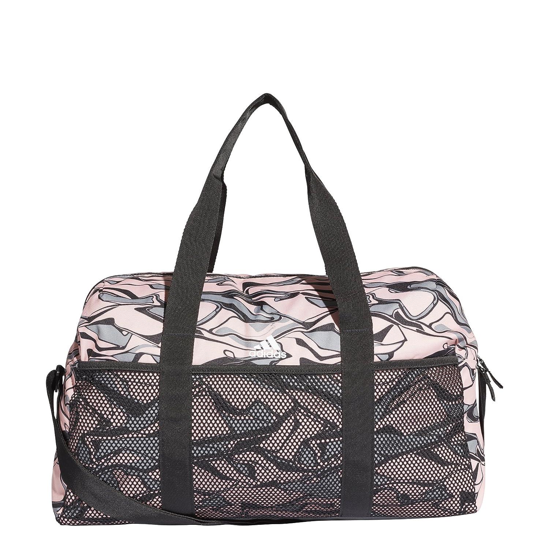 adidas Women's Training Core Graphic Duffel Bag, Clear Orange/Grey Three/Black, Ns CZ5885