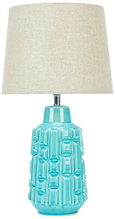 Kare Lámpara de mesa, turquesa, 33 x 33 x 60 cm