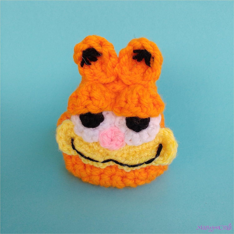 Monedero de Ganchillo inspirado en el gato Garfield: Amazon ...