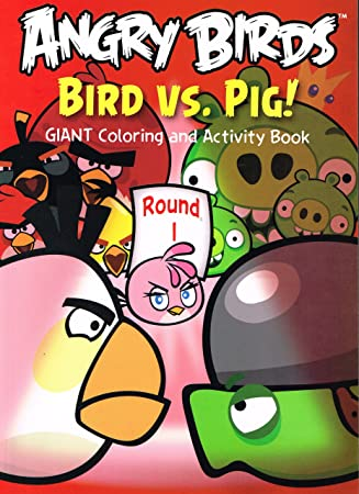 Amazon.com: Angry Birds Giant Coloring and Activity Books (2 Book ...