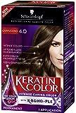 Schwarzkopf Keratin Color Permanent Hair Color Cream, 4.0 Cappuccino, 1 Count