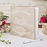 Ginger Ray Wooden Wedding Guest Book - Boho