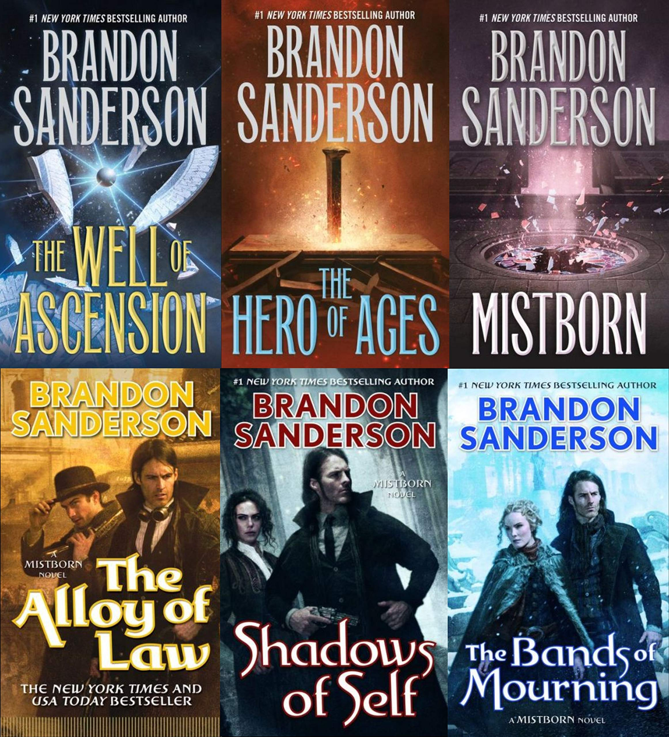 Mistborn 6 Books Collection Set by Brandon Sanderson (Final Empire, Well of  Ascension, Hero of Ages, Band of Mourning, Alloy of Law & Shadows of Self): Brandon  Sanderson, The Final Empire By