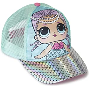 Trolls Poppy Spring Children Hat Baseball Cap Girls Summer Pink and Blue Glitter