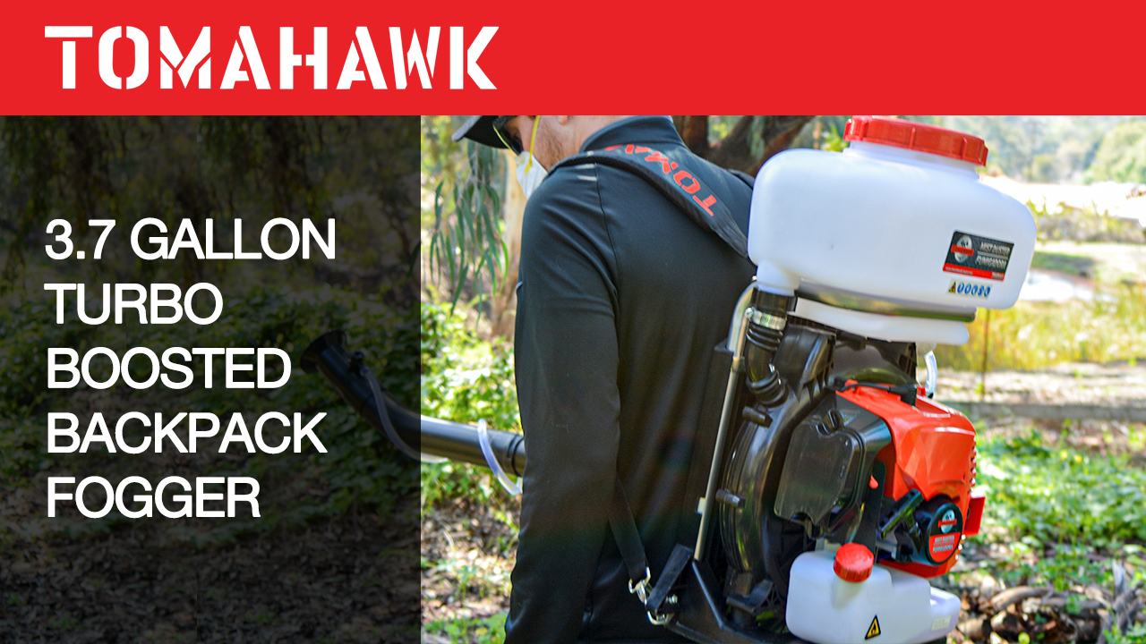 Tomahawk 3 HP Turbo Boosted Backpack Fogger Leaf Blower 2 Stroke ULV Sprayer for Mosquito Protection
