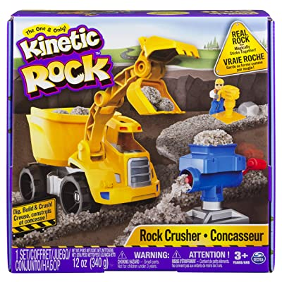Kinetic Rock - Rock Crusher Toy Kit with Construction Tools