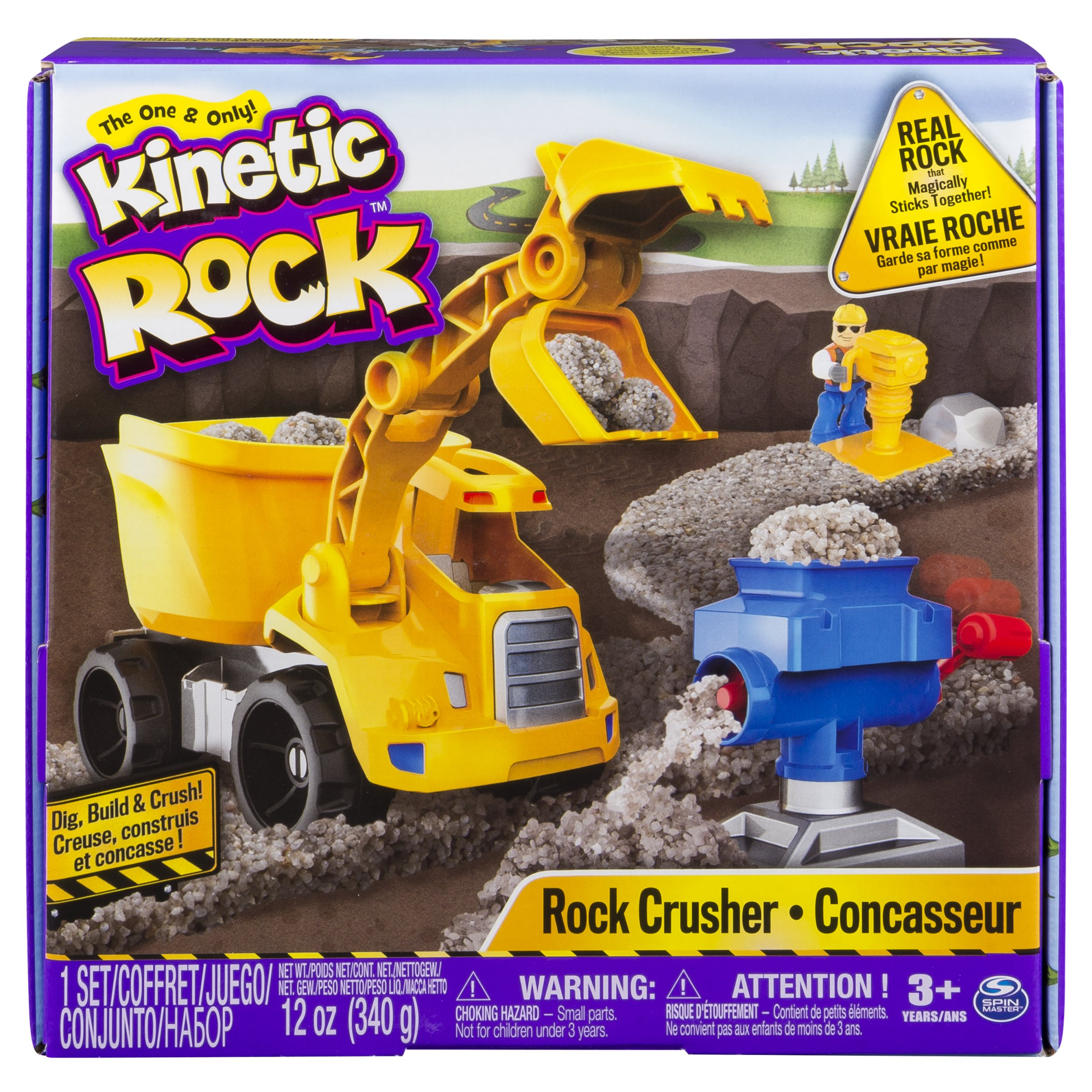 Kinetic Rock - Rock Crusher Toy Kit with Construction Tools, for Ages 3 and Up by Kinetic Rock