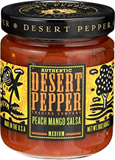 product image for Desert Pepper Trading Company Mango Peach Salsa, Medium Hot, 16 Ounce