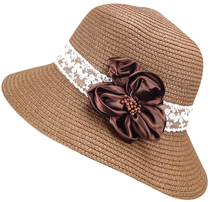 Bleu Nero Luxury Summer Sun Hat for Women – Beach Straw Hat Wide Brim 50+ 9471fbc57ad4