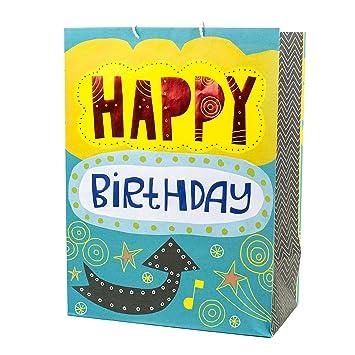 Amazon Hallmark Mega Birthday Gift Bag Happy Lettering Kitchen Dining