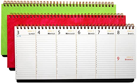 Calendario Planning.Set 3 Pz Planning 2018 Agenda Da Tavolo 30x14cm Sottomano Planner Calendario