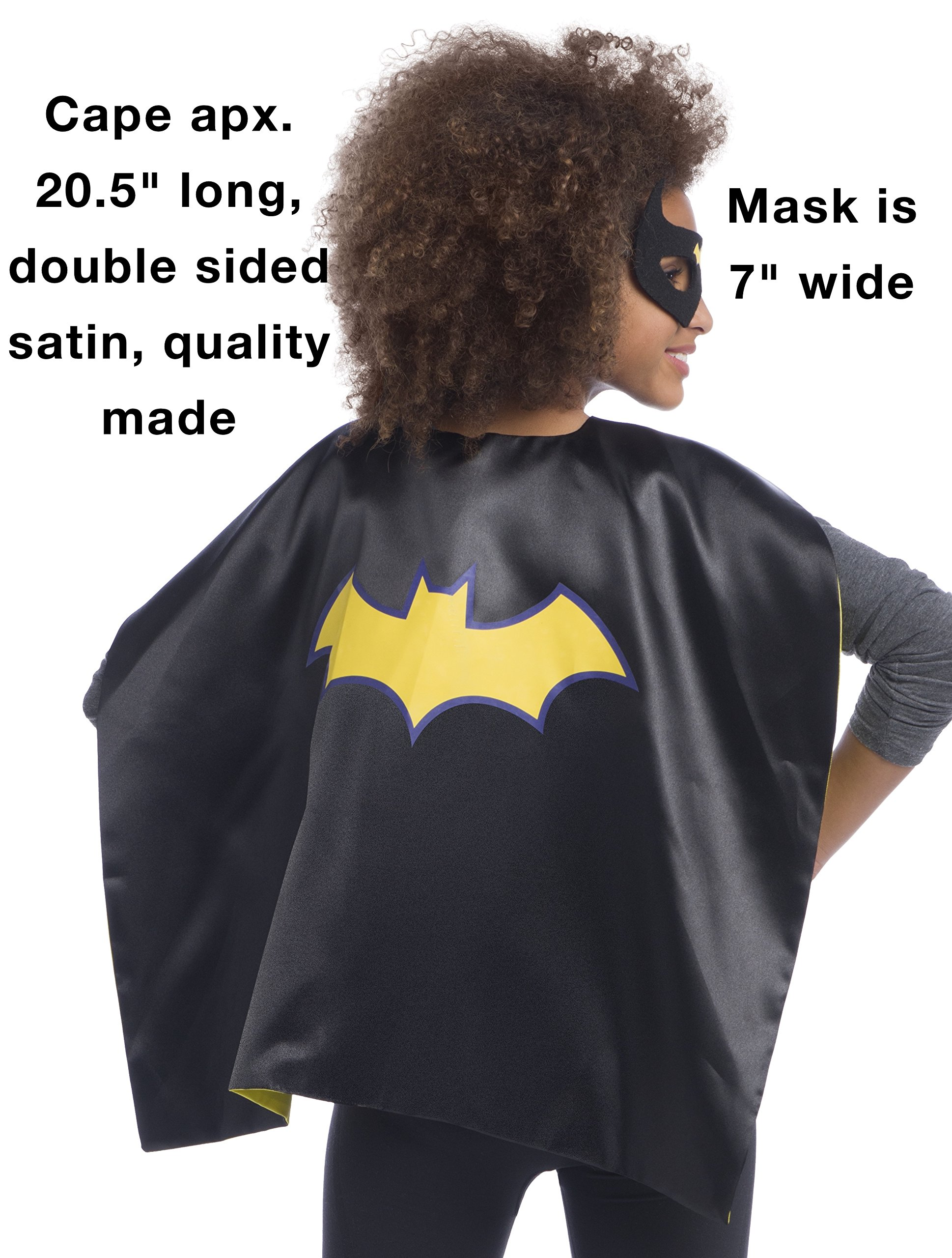 Rubie's Super Hero Cape Set Officially licensed DC Comics Assortment  4 Capes, 2 Masks, and 2 Headbands, One Size (Amazon Exclusive) by Rubie's (Image #4)