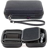 Digicharge® Black Hard Carry Case For Garmin Drive 52 50LM 51 LMT-S 40LM DriveAssist 50LMT-D 51 DriveSmart 55 50 50LMT-D 51 DriveLuxe 50LMT-D 51LMT-S Nuvi 57 5'' GPS Sat Nav With Accessory Storage & Lanyard