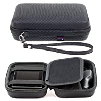 Digicharge® Black Hard Carry Case For Garmin Drive 50LM 51 LMT-S 40LM DriveAssist 50LMT-D 51 LMT-S DriveSmart 50LM 50LMT-D 51 LMT-S DriveLuxe 50LMT-D 51 LMT-S 5'' GPS Sat Nav With Accessory Storage and Lanyard